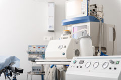 Medical equipments situating in hospital Royalty Free Stock Photo