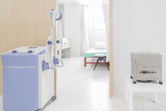 Medical equipped with hospital room.  Stock Photo