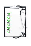 Medical exam with clipping path Royalty Free Stock Images