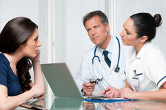 Medical exam discussion Royalty Free Stock Images