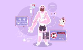 Medical examination of the body. vector illustration