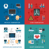 Medical Examination 4 Flat Icons Square Royalty Free Stock Photo
