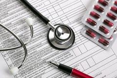 Medical examination form Royalty Free Stock Photography