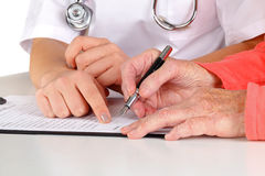 Medical examination form Stock Image