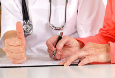 Medical examination form Stock Images