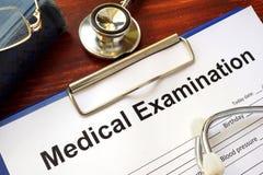 Medical Examination form Stock Photos