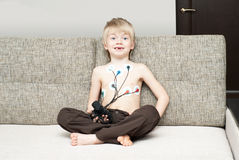 Medical examination of heart of the child Stock Image