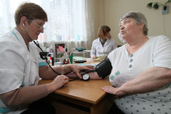 Medical examination of pensioners Royalty Free Stock Photography
