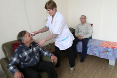 Medical examination of pensioners Royalty Free Stock Images