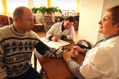 Medical examination of pensioners Royalty Free Stock Photo