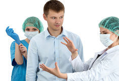 Medical examination. Prostatitis prophylaxis. Men health. Stock Photo