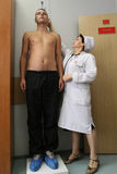 Medical examination at the recruitment center Royalty Free Stock Image