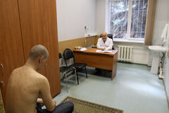 Medical examination at the recruitment center Royalty Free Stock Photo