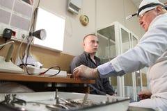 Medical examination at the recruitment center Stock Photos