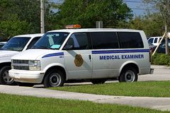 Medical Examiner's Van 1 Stock Photos