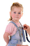 Medical examing of small girl Stock Photography