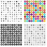 100 medical exhibition icons set vector variant. 100 medical exhibition icons set vector in 4 variant for any web design isolated on white Royalty Free Stock Photos