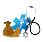 Medical expenses concept. Illustration design over white Stock Photography