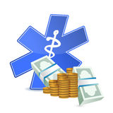 Medical expenses illustration Stock Photography