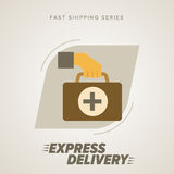 Medical Express Delivery Symbols. Vector Royalty Free Stock Images