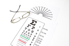 Medical eye chart Stock Images