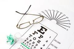 Medical eye chart Stock Photo