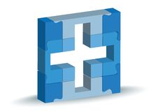 Medical facility icon in puzzle Royalty Free Stock Image