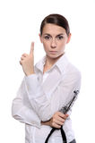 Medical female doctor showing gesture Stock Image
