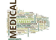 Medical Field Careers Text Background  Word Cloud Concept Royalty Free Stock Photo