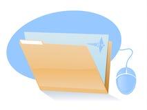 Medical File Icon. Electronic Health Records Graphic Illustation Stock Photo