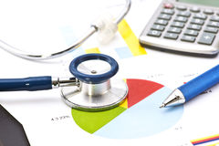 Medical Financial Analysis stock image