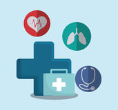 Medical first aid kit. Illustration eps 10 Stock Photos