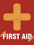 Medical first aid plaster Royalty Free Stock Photo