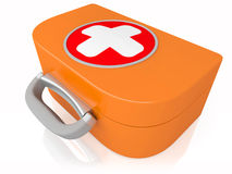 Medical first-aid set. The medical first-aid set a symbol of the help Royalty Free Stock Images