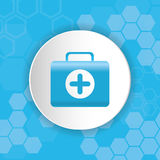 Medical first aids kit. Medical first aids icon vector illustration graphic design Royalty Free Stock Photos
