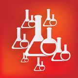 Medical flack, chemical eequipment web icon Stock Photos