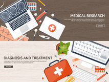 Medical flat background. Health care,first aid,research, cardiology. Medicine,study. Chemical engineering ,pharmacy. Royalty Free Stock Images