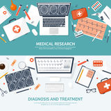 Medical flat background. Health care,first aid,research, cardiology. Medicine,study. Chemical engineering ,pharmacy. Royalty Free Stock Image