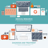 Medical flat background. Health care,first aid,research, cardiology. Medicine,study. Chemical engineering ,pharmacy. Medical flat background. Health care,first Royalty Free Stock Image
