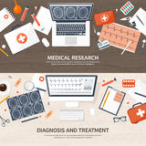 Medical flat background. Health care,first aid,research, cardiology. Medicine,study. Chemical engineering ,pharmacy. Medical flat background. Health care,first Royalty Free Stock Photography