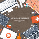Medical flat background. Health care,first aid,research, cardiology. Medicine,study. Chemical engineering ,pharmacy. Medical flat background. Health care,first Stock Images
