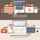 Medical flat background. Health care,first aid,research, cardiology. Medicine,study. Chemical engineering ,pharmacy. Stock Images