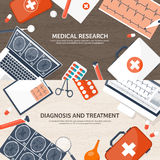 Medical flat background. Health care,first aid,research, cardiology. Medicine,study. Chemical engineering ,pharmacy. Medical flat background. Health care,first Royalty Free Stock Photos