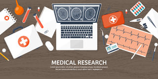 Medical flat background. Health care,first aid,research, cardiology. Medicine,study. Chemical engineering ,pharmacy. Stock Photography