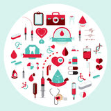 Medical flat icon style. vector illustration. Royalty Free Stock Images