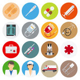 Medical flat icons Royalty Free Stock Photo