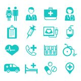 Medical flat Icons, medical logo for web, app, user interface (UI). Vector illustration isolated on white background Stock Photography