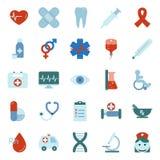 Medical flat icons set Stock Image