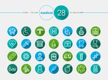 Medical flat icons set Stock Images