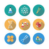 Medical Flat Icons Set With Long Shadow. Vector Stock Photo